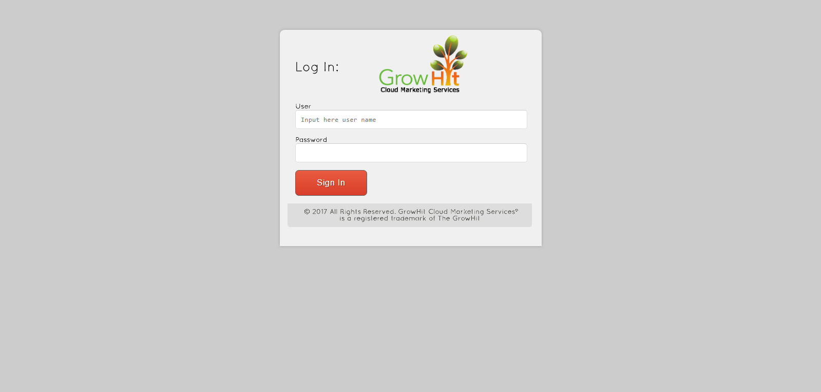 Login GrowHit