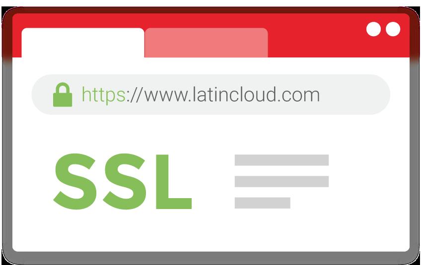 HTTPS indica que el certificado SSL está activado en tu sitio web